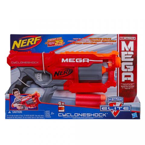Nerf N-Strike Mega Cyclone Shock |AGE 8+