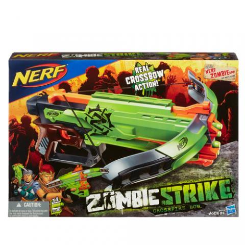 Nerf Zombie Strike Crossfire Bow|AGE 8+